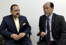 Chief Minister of Nagaland, Nephiu Rio calling on Union DoNER Minister Dr Jitendra Singh, at New Delhi on Thursday.