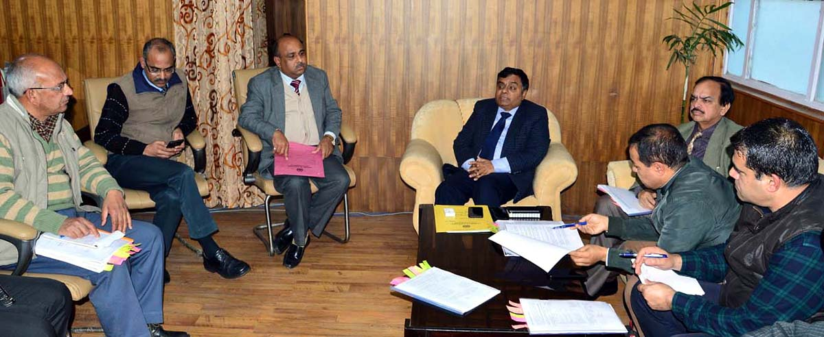 Commissioner Secretary, Forests, Ecology & Environment, Manoj Kumar Dwivedi chairing a meeting in Jammu on Tuesday.