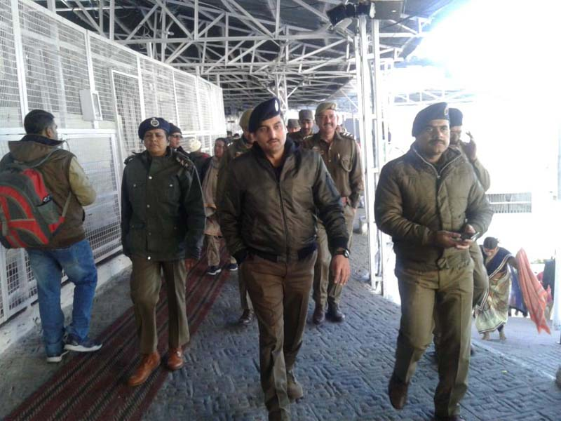 DIG Udhampur-Reasi range Suleman Choudhary visiting Bhawan for security review on Thursday.