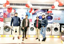 IFB appliances at display in Mint Leaf Restaurant, Channi Himmat in Jammu.