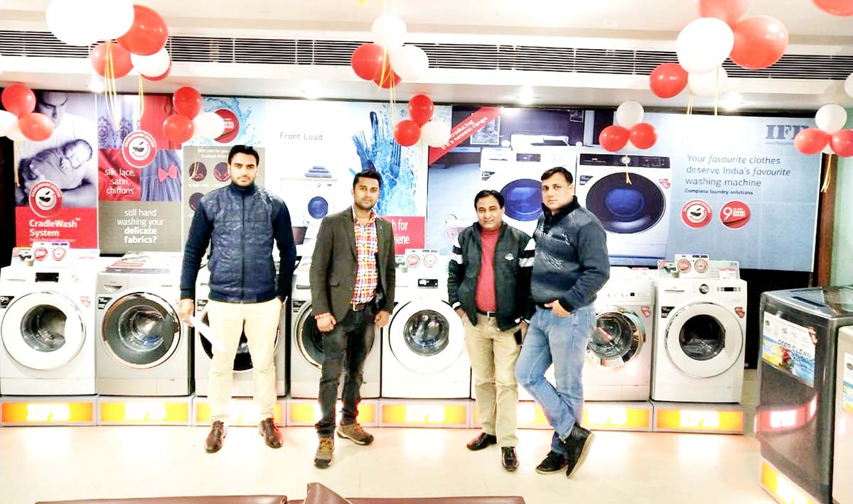 IFB appliances at display in Mint Leaf Restaurant, Channi Himmat in Jammu.