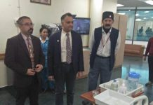 Eminent Endocrinologist Brig Narendra Kotwal during a visit to SMVD Narayana Superspeciality Hospital in Kakryal on Thursday.