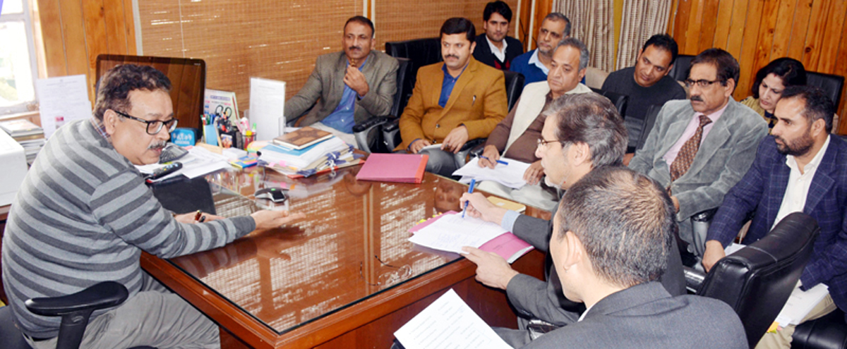 Principal Secy Finance chairing a meeting on Wednesday.