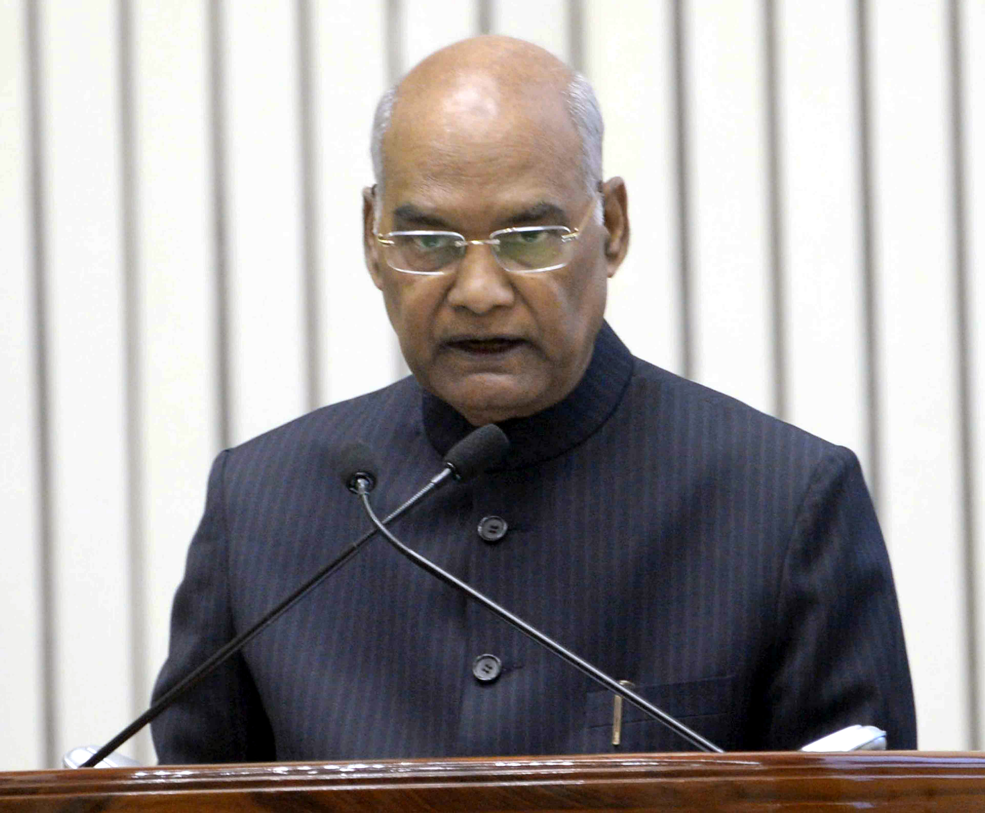 President, Ram Nath Kovind addressing at the inauguration of the Platinum Jubilee Conference of the All India Food Processors' Association (AIFPA), in New Delhi on Thursday.