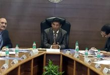 Regional RBI Director, Thomas Mathew chairing the 42nd Empowered Committee meeting on MSMEs at Jammu on Thursday.