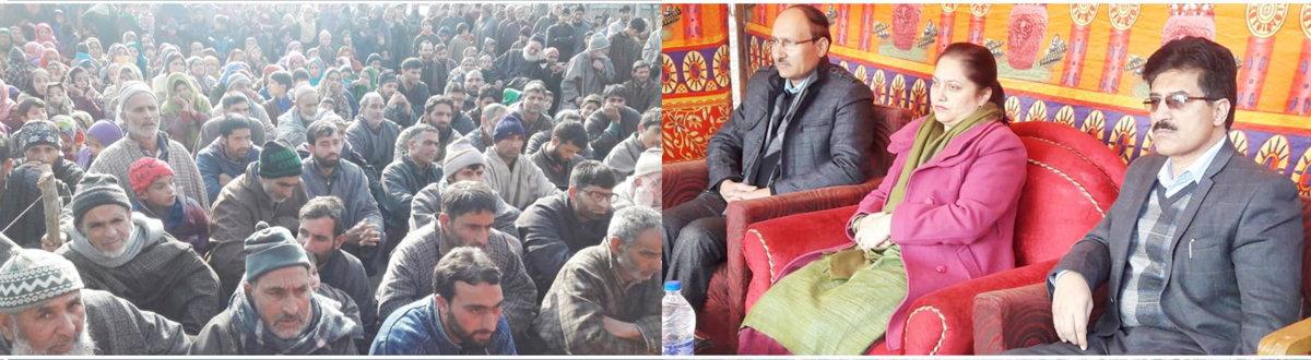 RDD Secretary, Sheetal Nanda, along with other officers at a public function in Kulgam.
