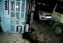 CRPF bus turns turtile at Chenani in Udhampur.