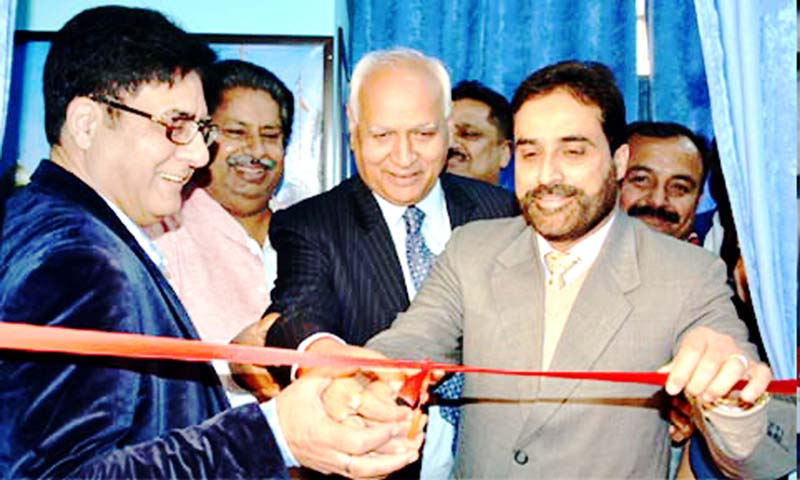 Director Information inaugurating Pir Panchal Newsline portal on Tuesday.