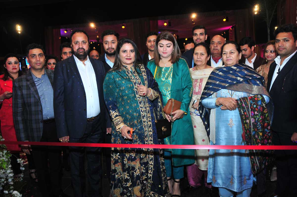 Punjabi singer and actor, Sharry Mann inaugurating Royal Park-a banquet hall at Jammu on Tuesday.