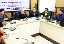 Director, NHM, J&K, Bhupinder Kumarinteracting with MLHPs during a training workshop.