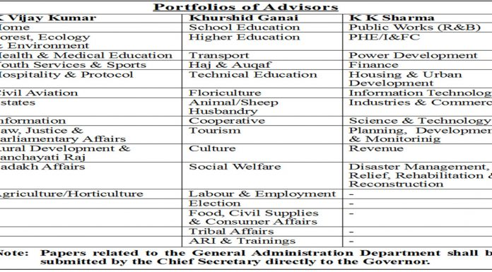 Portfolios re-allocated among 3 Advisors