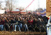 NC president Omar Abdullah addressing a rally in Kulgam on Tuesday.
