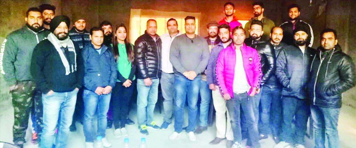 Office bearers of All J&K Powerlifting Association posing for a group photograph after finalizing Annual Calendar.