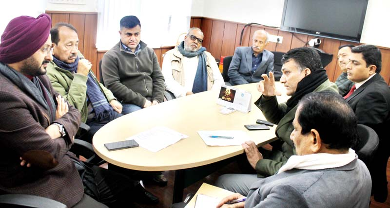 CEO Shrine Board, Simrandeep Singh chairing meeting of officers to review arrangements for Santosh Trophy.