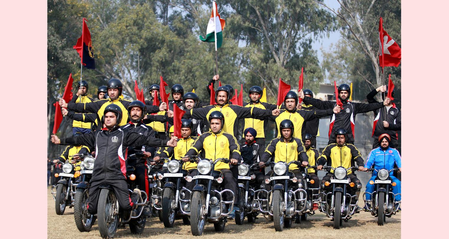 Republic Day Parade rehearsal in Jammu. -Excelsior/Rakesh