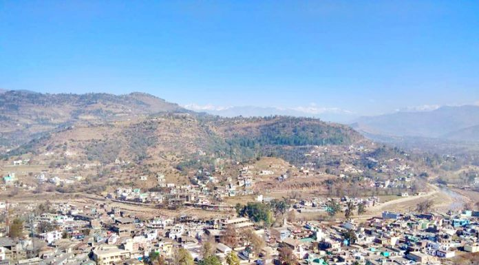 A panoramic view of Mendhar town. -Excelsior/Rahi Kapoor