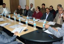 CEO J&K Shailendra Kumar at an All Party meeting in Jammu on Friday.