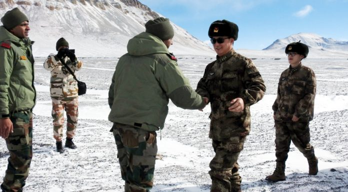 India and China Army officials meet at Eastern Ladakh.