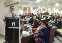 JMC Deputy Mayor, Purnima Sharma inaugurating LP Day by planting a tree at Studio Page 3 in Jammu on Wednesday.