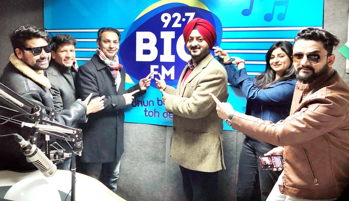Simrandeep Singh at the re-launch of Big FM's new jingle on Monday.