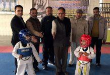 Taekwondo championship being inaugurated in Jammu.