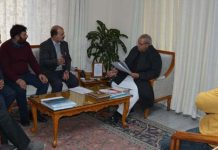 Governor interacting with a delegation on Friday.