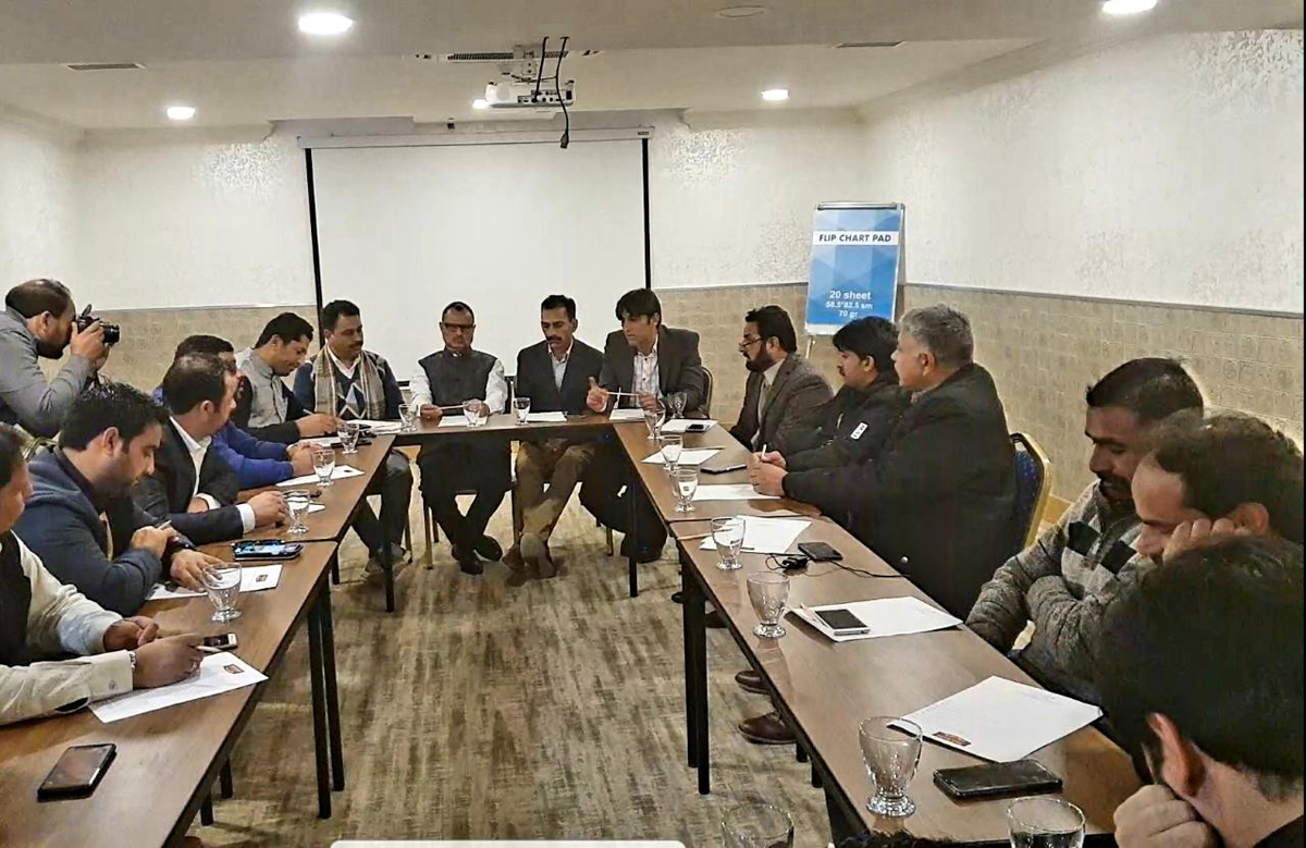 Cross LoC traders at a joint meeting in Azerbaijan on Thursday.