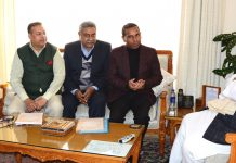 Governor meeting delegation of Laghu Udyog Bharti.