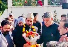 NC President Dr Farooq Abdullah during a function on Friday.