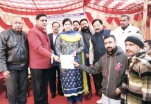 JMC Mayor alongwith others launching RFID tagging system on Tuesday.