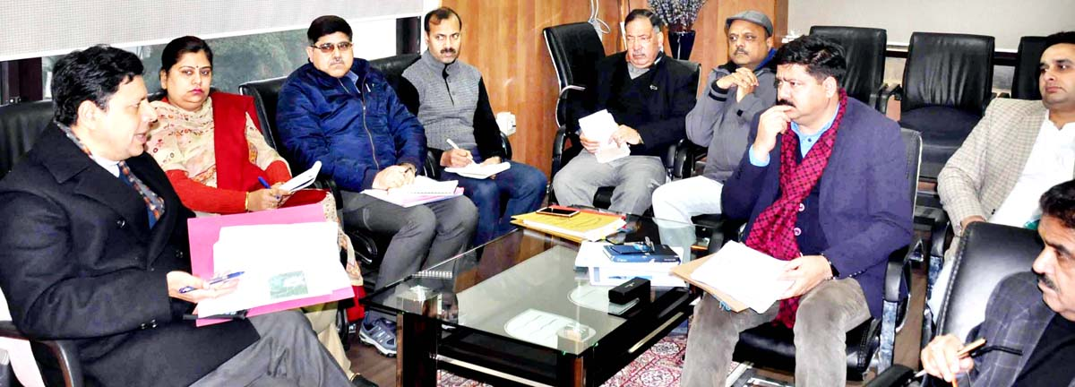 Divisional Commissioner Sanjeev Verma chairing a meeting on Monday.