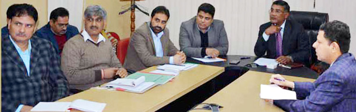 Chief Electoral Officer Shailendra Kumar chairing a meeting in Jammu on Friday.