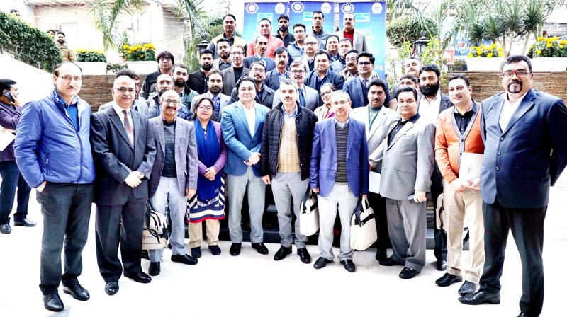 Advisor K Vijay Kumar posing with participants of 3rd batch of trainings, which concluded on Friday.