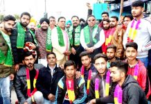 PDP Labour Cell J&K felicitating Abdul Hamid Choudhary for getting new assignments.