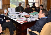 Principal Secretary, Planning Development & Monitoring Department, Rohit Kansal chairing a meeting on Wednesday.