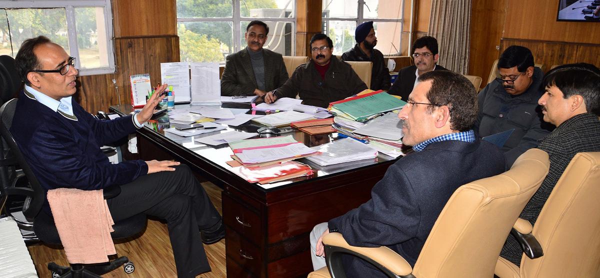 Principal Secretary, Planning Development & Monitoring Department, Rohit Kansal chairing a meeting on Wednesday.