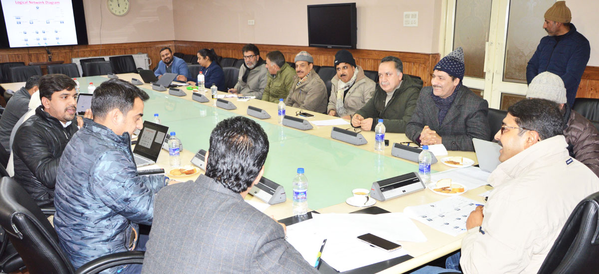 IT Secretary Saugat Biswas chairing a meeting on Wednesday.