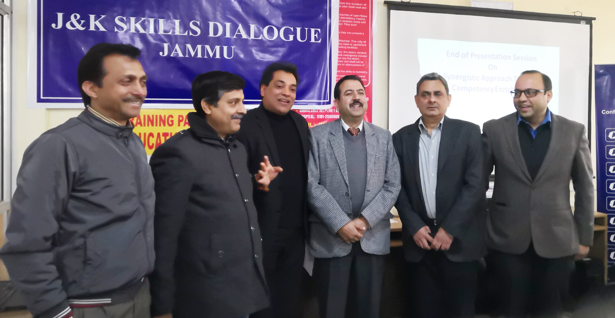 CII representatives and other guests during J&K Skill Dialogue in Jammu.