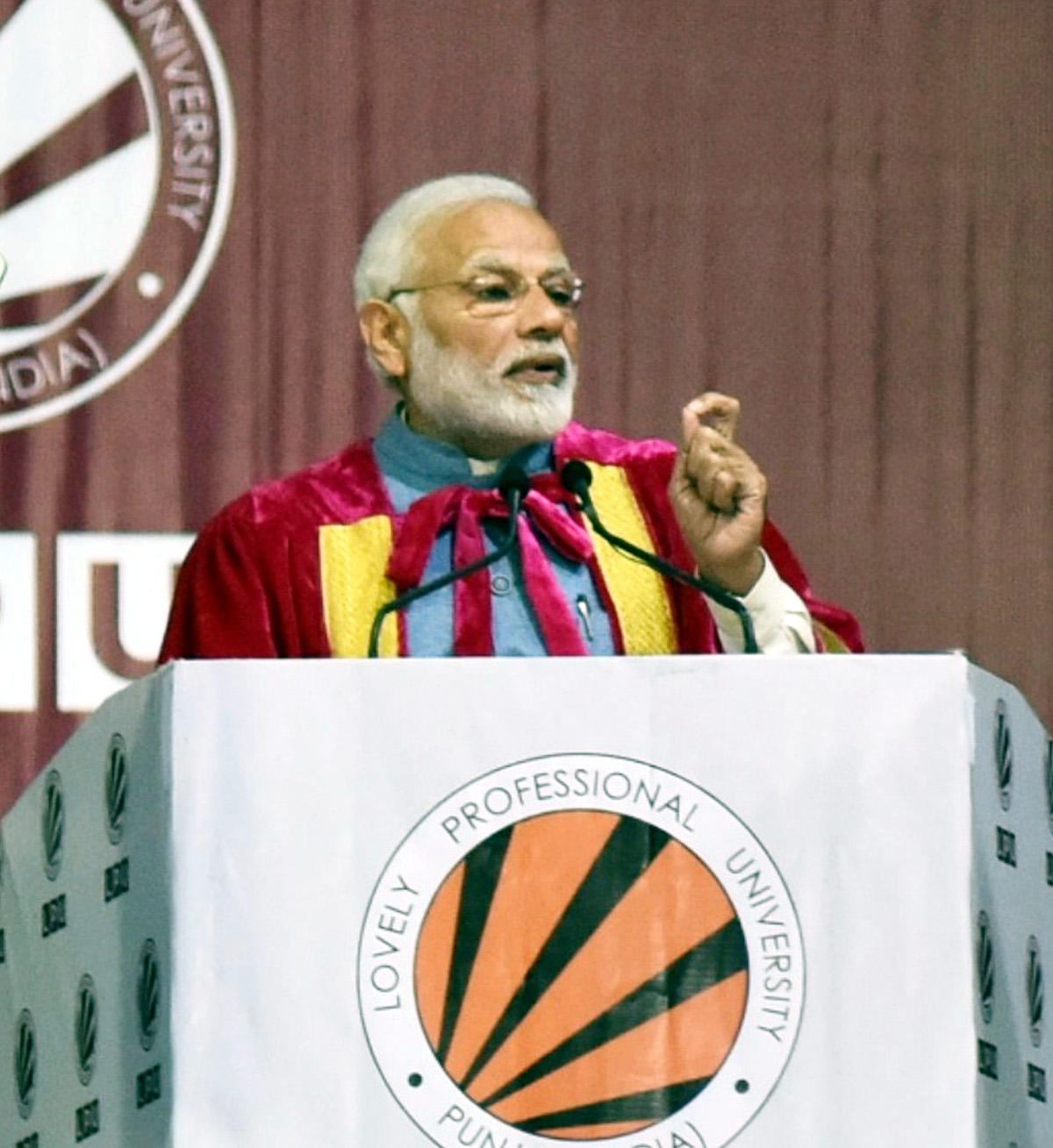 Prime Minister, Narendra Modi delivering the inaugural address at the 106th session of the Indian Science Congress, at Jalandhar, Punjab on Thursday.