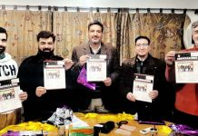 KCCI launching monthly journals at Srinagar on Saturday.