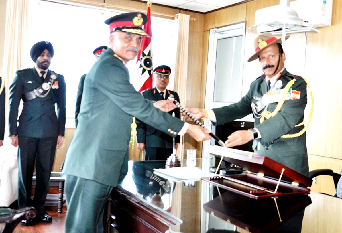 Lt Gen J S Nain taking over command of 9 Corps.