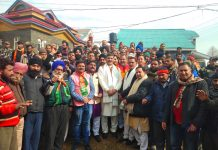 MP Jugal Kishore Sharma at a Navrattan Sammelan at Poonch on Saturday.