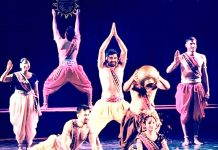 A scene from the Dogri play 'Urubhangam' all set to be staged at Kumbh Mela.