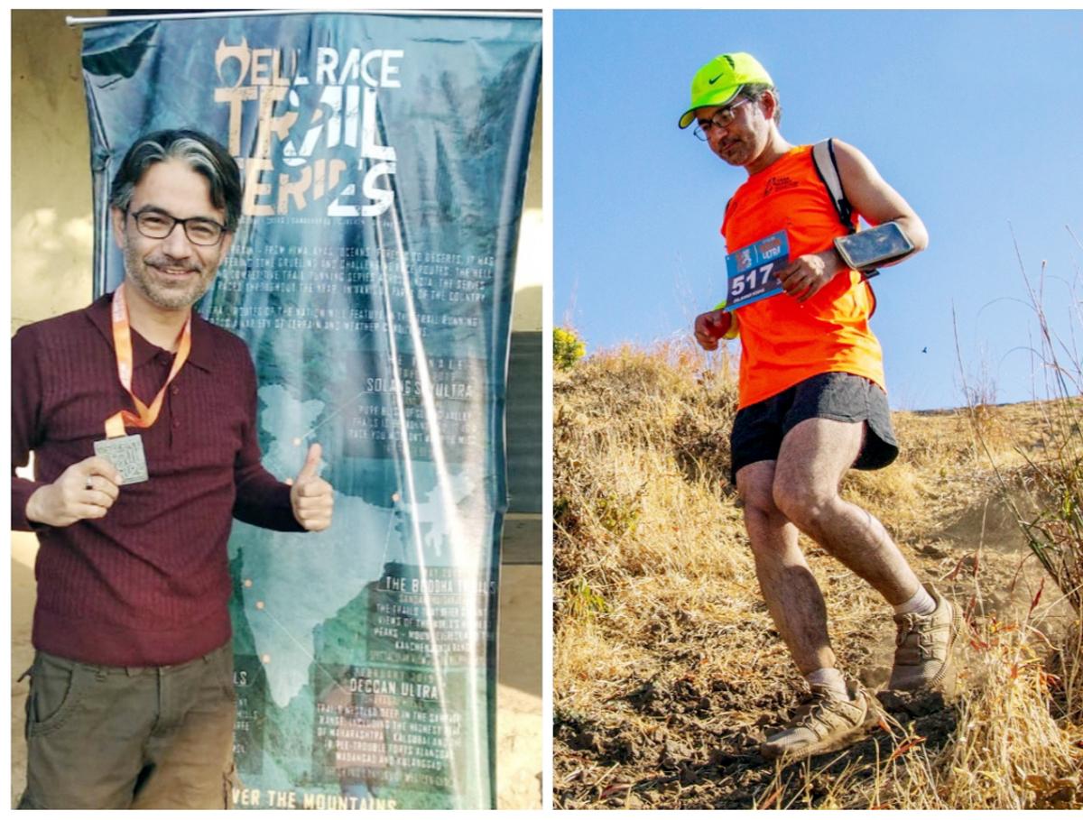 Dr Dilawar Khan during 50 kms ultra trail run.