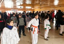 Young sportspersons during Winter Camp at Pahalgam.