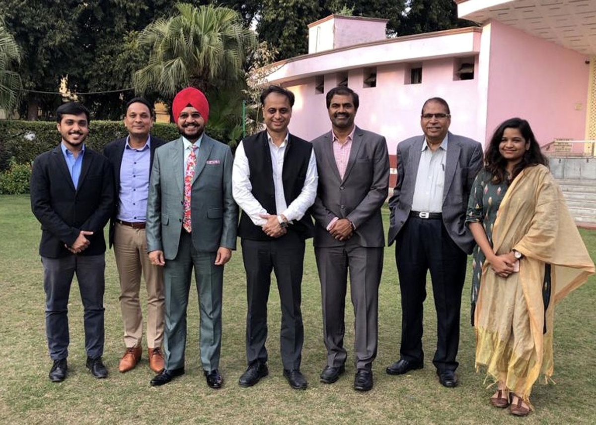 New Executive Committee of PRSI Delhi Chapter (L-R) Akshat Chopra, Sarvesh Tiwari, Dr. H S Paul, Naresh Kumar, S S Rao, J P Sharma, Tanvi Singhal.