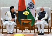Minister of Foreign Affairs of People's Republic of Bangladesh, Dr. A.K. Abdul Momen calling on Prime Minister, Narendra Modi, in New Delhi on Thursday.