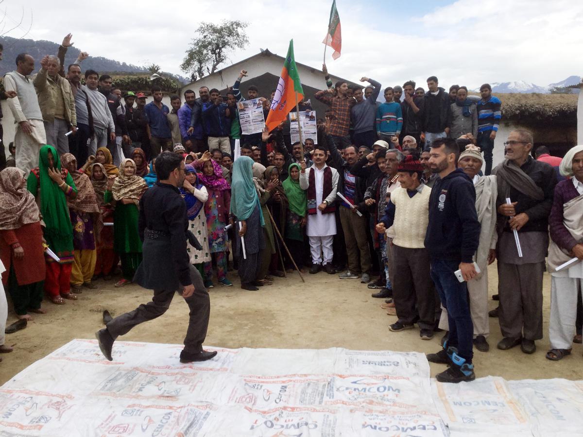 Ranbir Singh Pathania, Spokesperson J&K BJP during a tour of Ramnagar.