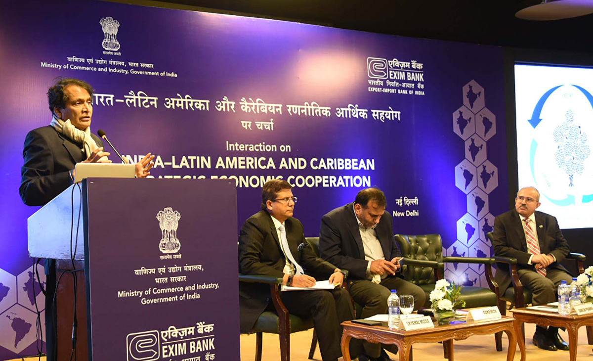 Union Minister for Commerce & Industry and Civil Aviation, Suresh Prabhakar Prabhu at an interaction on India – Latin America and Caribbean Strategic Economic Cooperation, in New Delhi on Thursday.