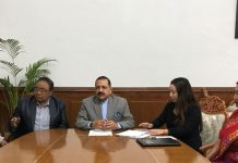 """Union Minister Dr Jitendra Singh with a delegation of """"All Manipur Dalit Development Association"""", at New Delhi on Thursday."""